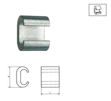 С-образные и Н-образные соединительные зажимы