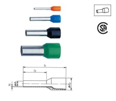 Изолированные втулочные наконечники по стандарту DIN 46228, часть 4 и другие исполнения