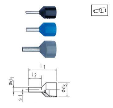 Изолированные втулочные наконечники для проводников, стойких к короткому замыканию